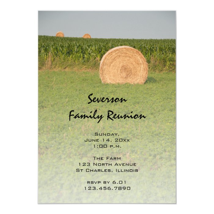 country hay bales family reunion invitation zazzle