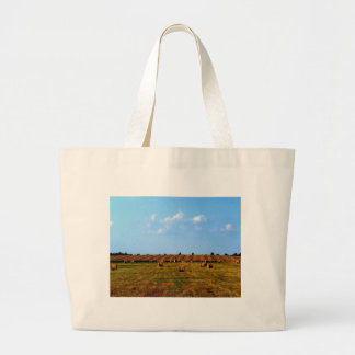 Country Hay Field Canvas Bags