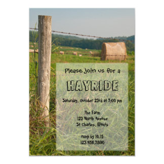 "Country Hayride Invitation 5"" X 7"" Invitation Card"