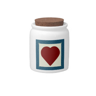 Country Heart Candy Jar