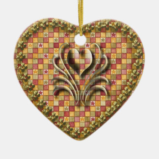 Country Heart Christmas Ornament