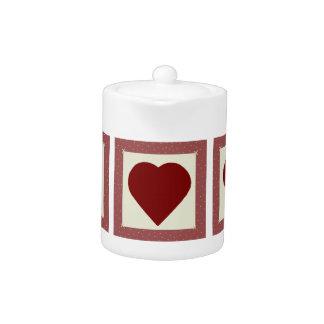 Country Hearts Tea Pot