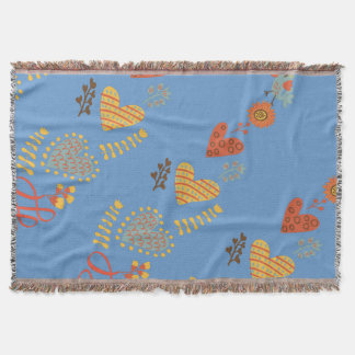 Country Hearts throw blanket