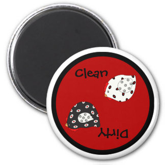 Country Hen Clean Dirty Dishwasher Magnet