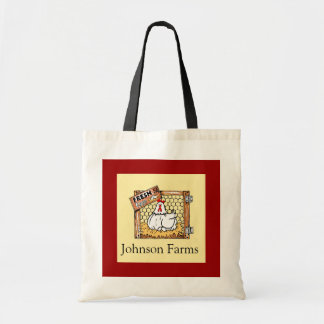 Country Hen & Fresh Eggs Budget Tote Bag