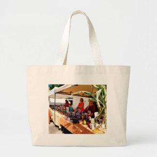 Country Herbs at Garlic Festival Large Tote Bag