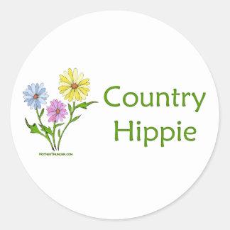 Country Hippie Classic Round Sticker