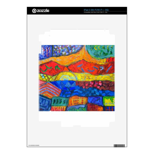 Country Holidays (abstract landscape) Decal For iPad 2