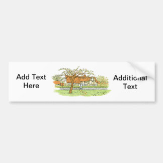 Country Home Bumper Sticker