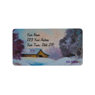 Country Home Canvas Label