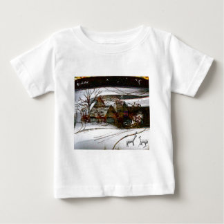 country home Christmas edit Baby T-Shirt