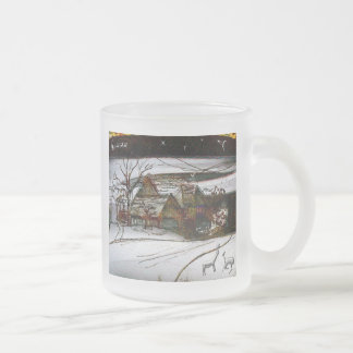 country home Christmas edit Frosted Glass Coffee Mug