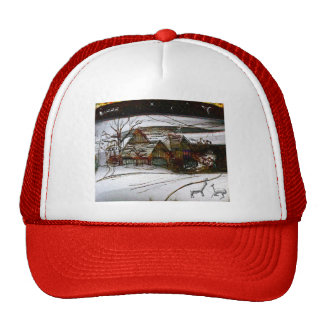 country home Christmas edit Trucker Hat
