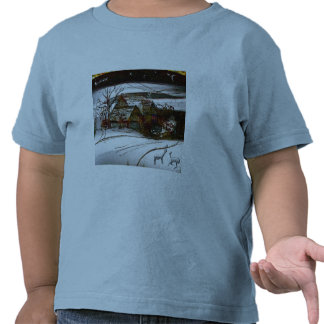 country home Christmas edit T-shirt
