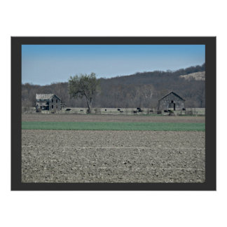 Country homestead   Kansas Poster