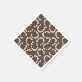 Country Horse shoe pattern party paper napkins
