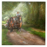 Country - Horse - The hay ride Ceramic Tiles