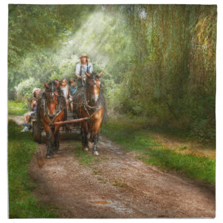 Country - Horse - The hay ride Cloth Napkin