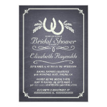 "Country Horseshoe Bridal Shower Invitations 5"" X 7"" Invitation Card"