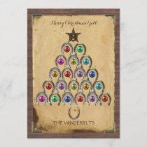 Country Horseshoe Christmas Photo Card