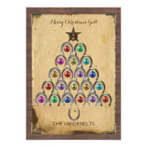 Country Horseshoe Christmas Photo Card
