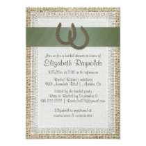 Country Horseshoes Bridal Shower Invitations