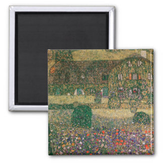 Country House by the Attersee, c.1914 2 Inch Square Magnet