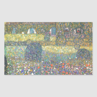 Country House by the Attersee cool Rectangular Stickers