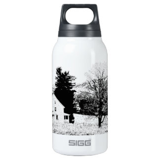 Country House in Back and White SIGG Thermo 0.3L Insulated Bottle
