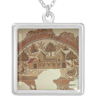 Country house in Tabarka Silver Plated Necklace