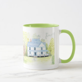 country  house painting mug
