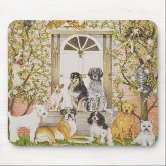 Country House Party Mouse Pad