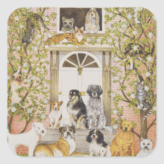 Country House Party Square Sticker