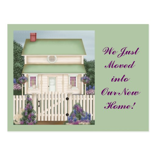 Country House Postcards - We just moved....
