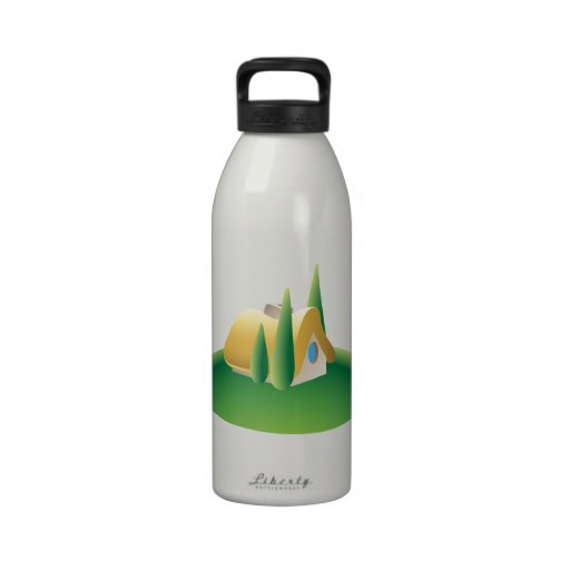 country house reusable water bottle