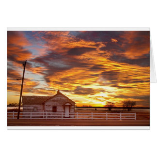 Country House Sunset Longmont Colorado Boulder Cou Greeting Card