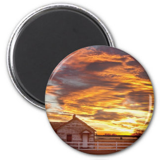 Country House Sunset Longmont Colorado Boulder Cou Magnet