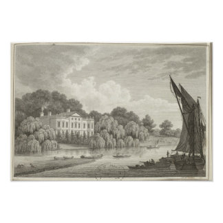 Country House with Lake and Boats Poster
