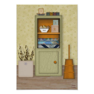 Country Hutch Poster