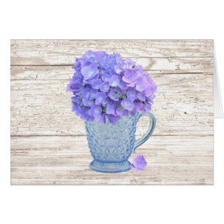Country Hydrangea Mother's Day Card