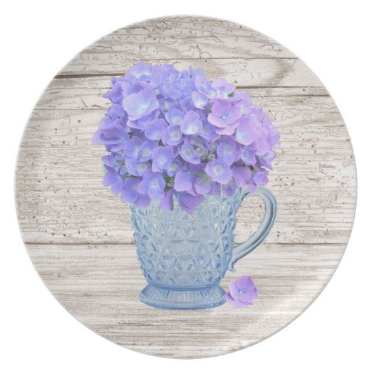 Country Hydrangea Plate
