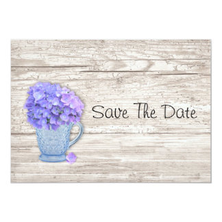 Country Hydrangea Save The Date Card