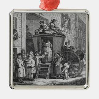 Country Inn Yard, 1747 Metal Ornament