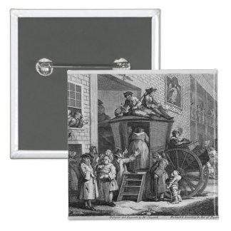 Country Inn Yard, 1747 Pinback Button