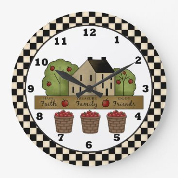doodlesgifts Country Inspiration Apple Wall clock