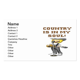 Country Is In My Soul Business Cards