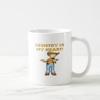Country Is My Heart Coffee Mugs
