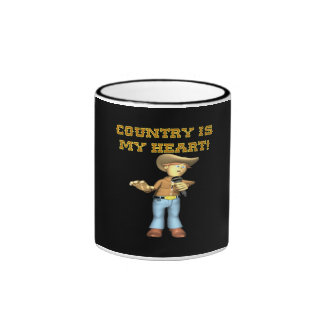 Country Is My Heart Mugs