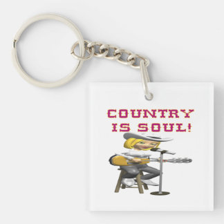 Country Is Soul Keychain