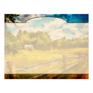 Country - It's so peaceful in the country Customized Letterhead